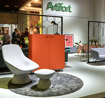 At IMM Cologne 2018 Artifort unveiled the renewed Mare sofa collection