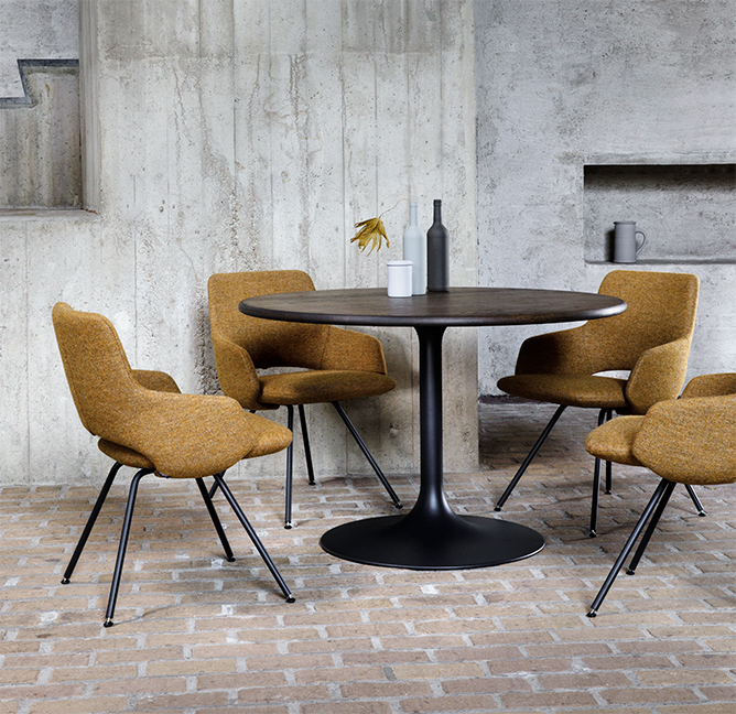 The new Jima chair and Clarion table