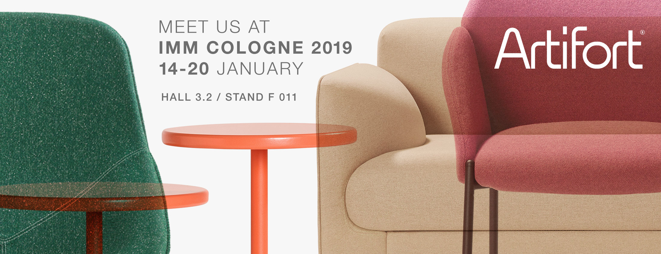 Discover Artifort at IMM 2019. Hall 3.2, stand F011