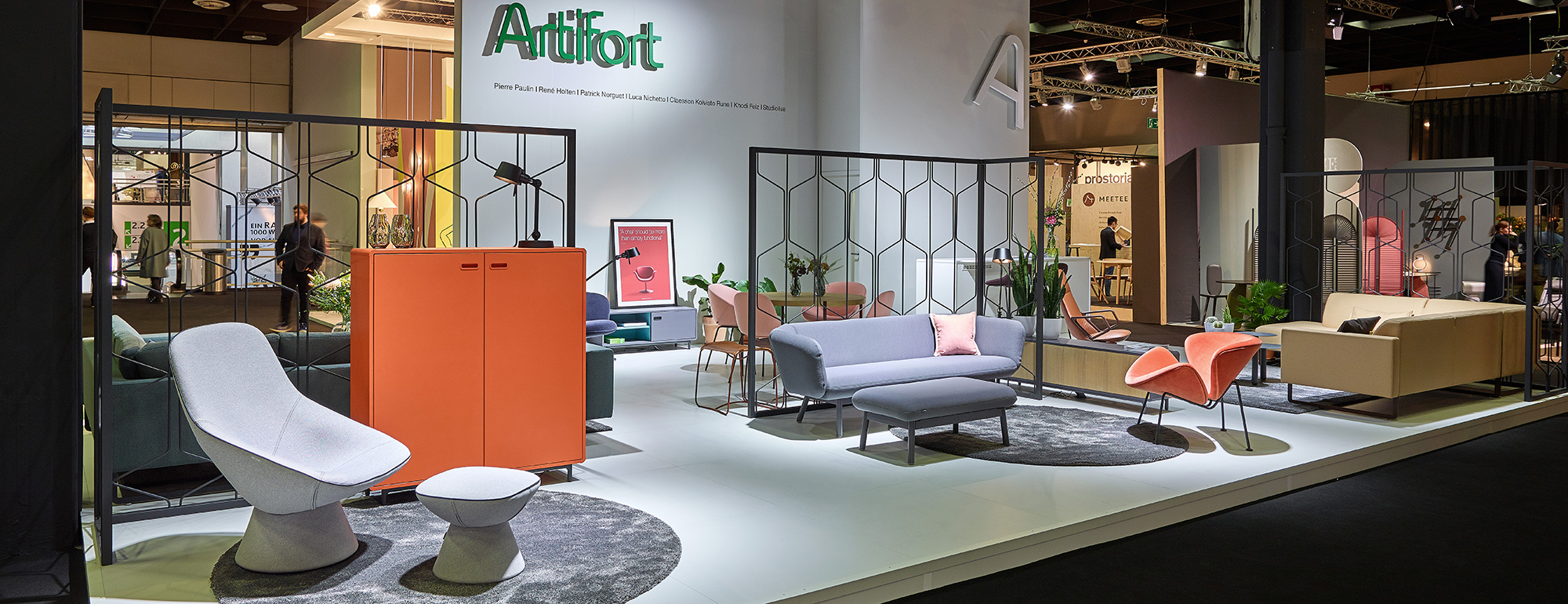 imm cologne 2018 artifort stand. Black Bedroom Furniture Sets. Home Design Ideas