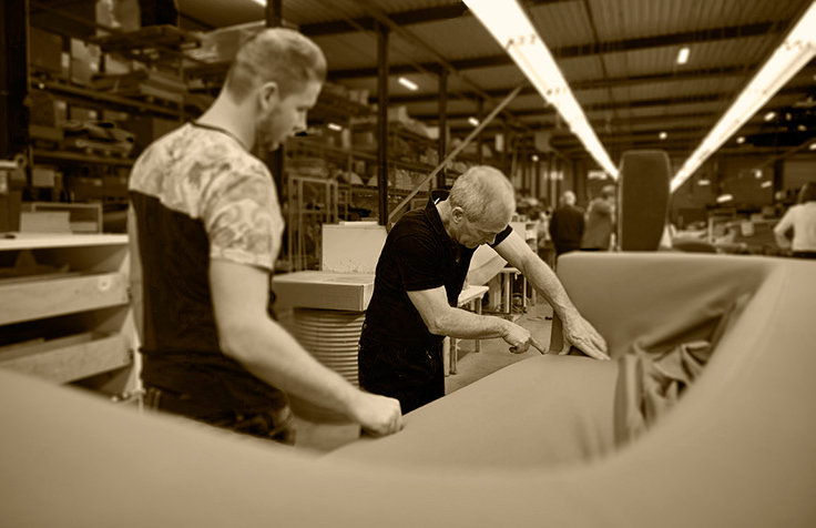 Re-upholstering furniture to limit waste and greenhouse gas emissions