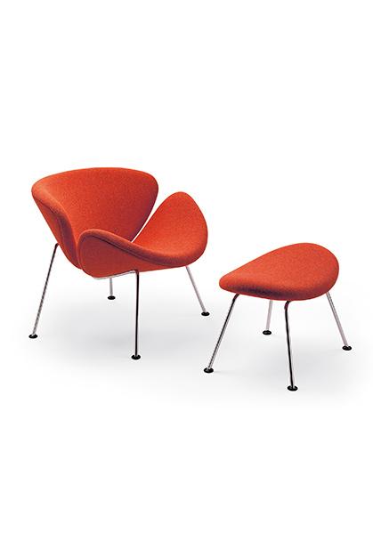 Artifort Slice Fauteuil.Artifort Orange Slice Armchair Designer Pierre Paulin