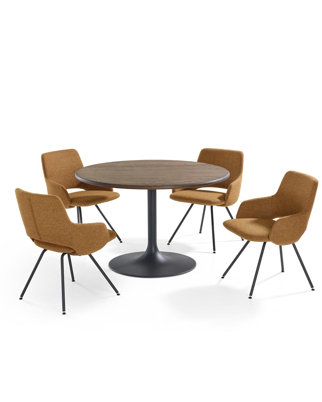 Artifort Design Salontafel.Design Table On Trumpet Foot Clarion By Artifort