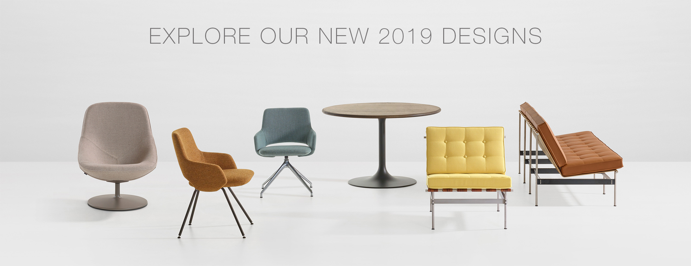 Discover the novel Artifort designs in Milan during furniture fair Salone del Mobile 2019.