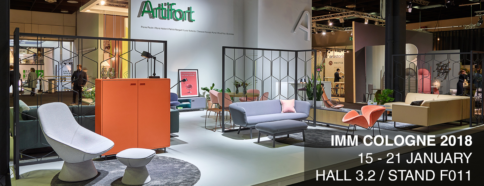 Artifort at IMM Cologne 2018. Visit us at hall 3.2, stand F011